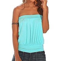 Mujeres Top Camiseta Sin Mangas Tops Off Shoulder Verano Casual Top Camiseta