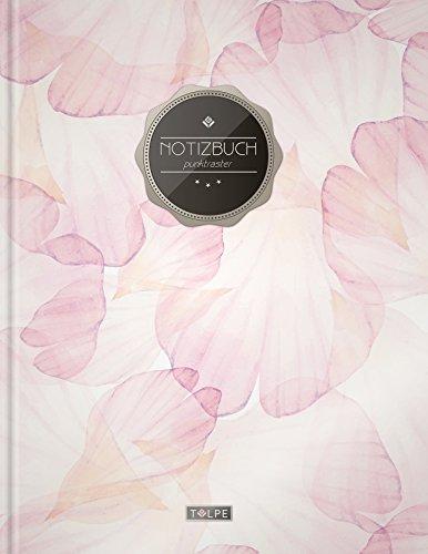 """tizbuch A4 """"C051 Blüten"""" (140+ Seiten, Vintage Softcover, Punktkariertes Papier - Bullet Journal, Dickes Notizheft, Skizzenbuch, Tagebuch, Gepunktete Seiten, Dot Grid Notebook) (Notebooks Journals)"""