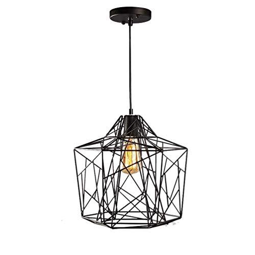 DGHDFH Vintage Pendelleuchte Kit Industrielle Decke Loft Lampe Schwarz Metallschirm H&aumlE27 Halter Keramik Glühbirne Basis 3 Kern Geflochtene Kabel (Glühbirne Nicht enthalten) -