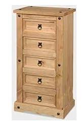 Mercers Furniture Corona 5 Drawer Narrow Chest