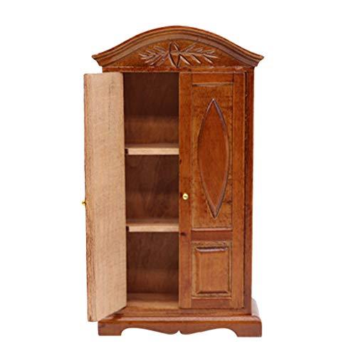 1:12 Puppenhaus Miniatur Holz Anzeige Schrank Kabinett Regal Vitrine Musterhaus Mini Möbel Zubehör Sammlung (B) -