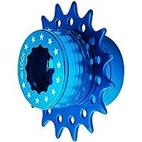 Cervus Bicicleta Fixie sola velocidad Cassette Kit de conversión Compatible Shimano 16T colores (azul)