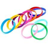 Ecloud Shop® 10X Brazalete Pulsera Correa de Goma Coloridos Moda 12 mm