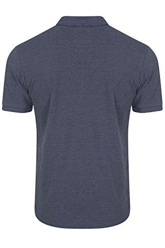 Tokyo Laundry Herren Blusen Poloshirt, Einfarbig grau grau Mood Indigo Marl - Blue