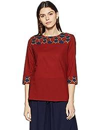 Amazon Brand- Myx Women's Straight Cotton Kurta