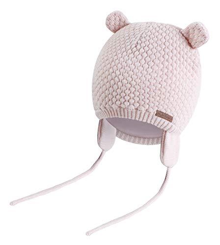 K.tchard Baby Jungen Mädchen Mütze Beanie Strickmütze Cap Kinder Wintermütze Cute Bear Hut, Gr.-3-7 Monate(36cm-41cm)/ Etikettengröße - Small ,Pink
