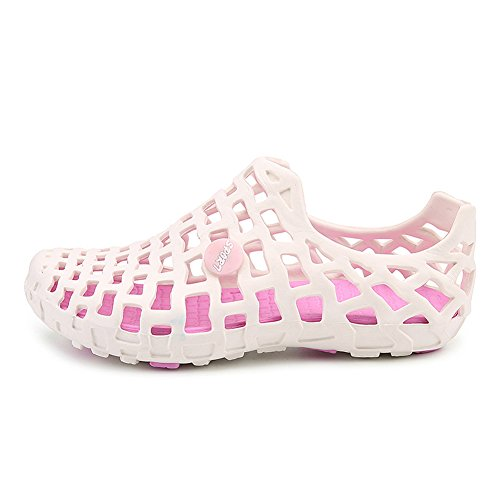 Outdoor Strandschuhe Paar Loch Schuhe Männer und Frauen Beiläufig Turnschuhe Anti-Rutsch Draussen Atmungsaktiv Strand Schuhe Weiß Pink