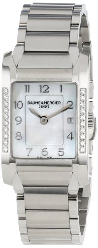 Baume & Mercier Women's Steel Bracelet & Case Anti Reflective Sapphire Quartz MOP Dial Watch MOA10051