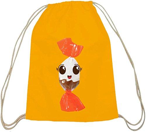 el süßes Schokoladen BonBon Partner Kostüm für Fasching Karneval für Naschkatzen, Größe: onesize,gelb natur (Lustige Partner Halloween Kostüme)