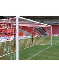 Filets de Buts Foot pour Stades, 7,3x2,4m, 2 couleurs, Paire [Net World Sports]