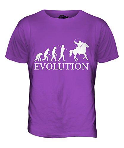 CandyMix Arciere A Cavallo Evoluzione Umana T-Shirt da Uomo Maglietta Viola