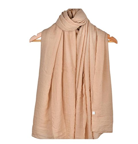 LAAT Dame Zuckerwatte Farbschal Schal Schal Frau Schal Baumwolle einfarbig Schal Wrap Sonnencreme Schals (Color5)