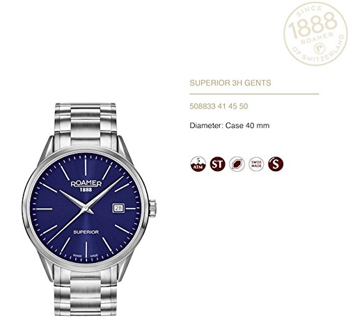 Roamer orologio uomo Superior 3H Gents 508833 41 45 50