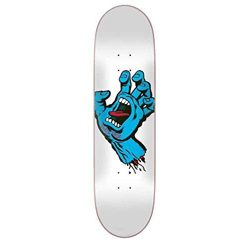 Santa Cruz Skateboard Deck Screaming Hand Taper Tip - 8.5 Inch Bianco (Default, Bianco)