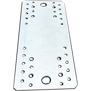 10 pcs. Flat Connecting Joining Plate, galvanised, 210 x 90 mm x 2mm