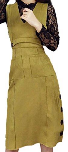 erdbeerloft - Damen 3-teiliges Outfit, 2-teiliges Kleid und Spitzenshirt, S-L, Viele Farben Occer