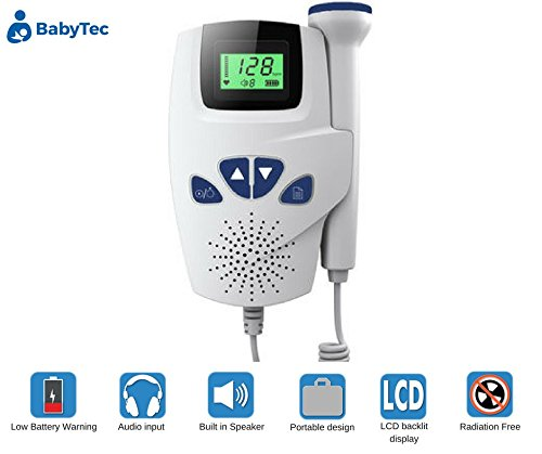 Baby Heart Beat Monitor Sound Amplifier With Loudspeaker Listen to Baby's Heart