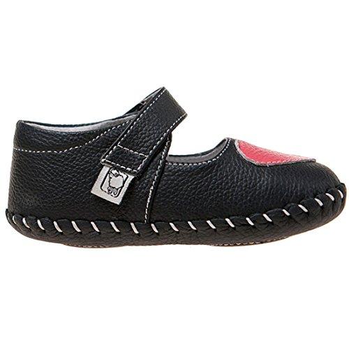 Little Blue Lamb , Chaussures premiers pas pour bébé (fille) Noir noir-rose 6-12 mois noir-rose