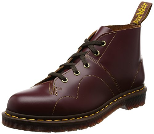 Dr.Martens Womens Monkey 5 Eyelet Vintage Smooth Red Leather Boots 38 EU