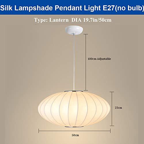 SHELLTB LED Anhänger Beleuchtung Eierschale Seide Plissee Trommel Clip auf Kronleuchter Lampenschirm,Lantern,DIA50CM - Trommel Anhänger Kronleuchter
