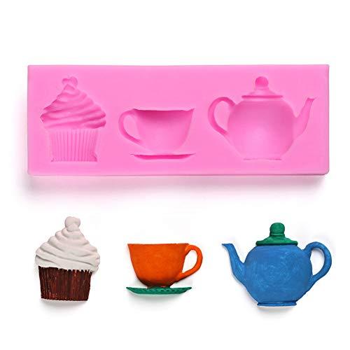 nform, Kuchen Kekse Form Silikon Teekanne Cup Form DIY Fondant Küche Werkzeug ()