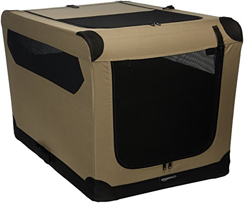 AmazonBasics Folding Soft Dog Crate, 36""