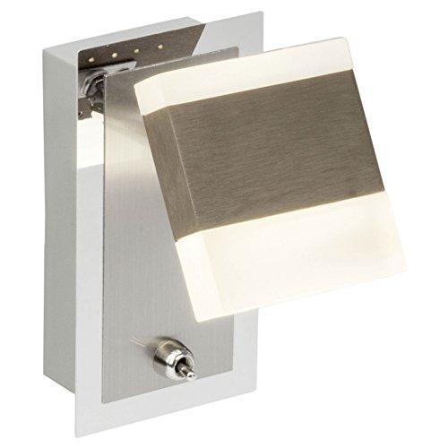 Brilliant Target LED Wandspot mit Schalter Wandstrahler schwenkbar nickel/chrom 350 Lumen, LED integriert (Target Spots)