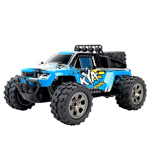 Htfrgeds RC Truck 1:18High Speed Racing Car, 2WD Off-Road Waterproof Vehicle 2.4Ghz Radio Remote Control Monster Truck Dune Buggy Hobby Toys for Kids & Adults