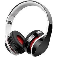 Casque Bluetooth Sans Fil Fonction 4-en-1, NickSea Casque Pliable, Microphone Intégré, Bluetooth, Radio, Carte de Mémoire, 20h de reproducir, 250h de travail, Compatible avec iPhone, PC Mac etc