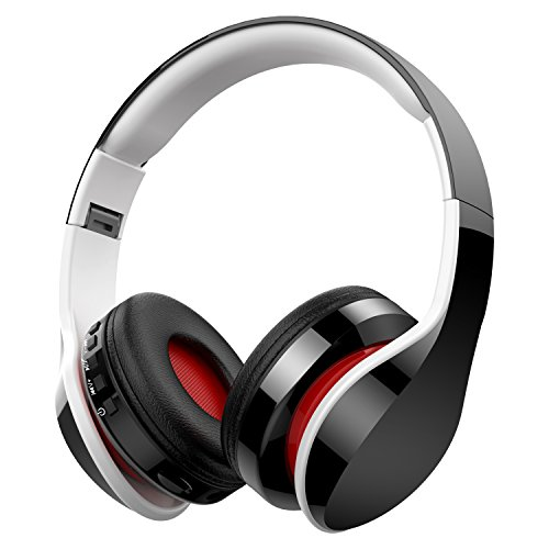 Casque Bluetooth sans Fil Anti-Bruit, Macrourt Casque Audio Pliable Fonction 4 en 1 avec Radio FM, Compatible avec iPhone Android iPad PC Tablettes