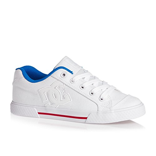 DC Girls Schuhe Chelsea TX Weiß/Rot/Blau Weiß