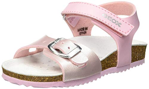 Geox Mädchen J New Aloha Girl D Peeptoe Sandalen Pink (Pink/Lt Pink C8248), 37 EU