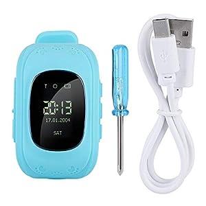 Kinder SmartWatch, Multifunktion Touchscreen-Uhr für Kinder, mit LBS-Tracker Telefon-Uhr, 0.96 Zoll, für Mädchen, Jungen, Kinder, Geschenk(Blau)