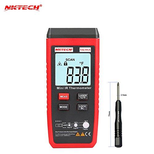 nktech nk306a Digitales Infrarot-Thermometer Mini LCD Tester-35–300°C/-31–572°F IR Temperatur Meter ° C/° F Pyrometer 250MS Reaktionszeit mit tl-1Schraubendreher Geschenke Für 10 Dollar Oder Weniger