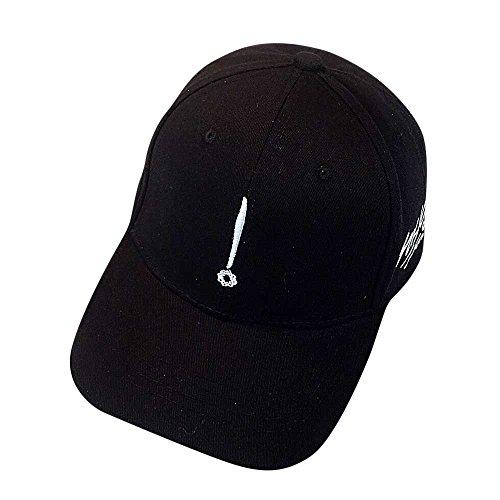 Aoogo Paare Hut Einstellbar Kappen Einfache Lässig Kappe Reine Atmungsaktiver Hut Sonnenhut Gebogener Mütze Outdoorcap Flacher Hip-Hop-Hut