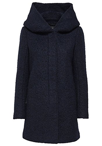 Only Damen Wollmantel Kurzmantel Winterjacke (M, Night Sky)