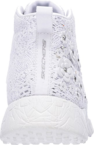 Skechers Turnschuhe Vendo Prata Damen Alta Superior Estourar Têxtil Estrelas Branco 1q6gwU1