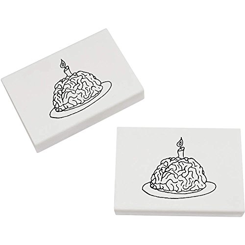(Azeeda 2 x 45mm 'Gehirn mit Einer Kerze' Radiergummis (ER00003170))