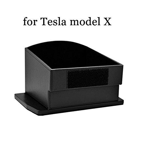 Preisvergleich Produktbild Auto Mittelkonsole Armlehne Dekoration, Karbonfaser Schutzfolie kratzfest Aufkleber für TESLA Modell S und Modell X