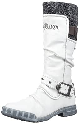 s.Oliver Casual 5-5-56417-29, Mädchen Stiefel, Weiss (OFFWHITE 109), EU 40