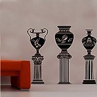 Kult Kanvas Ancient Greek Vase On Column Wall Sticker Design Four