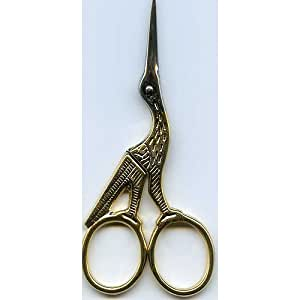 Madeira Scissors - Gold Plated Stork Embroidery Scissors