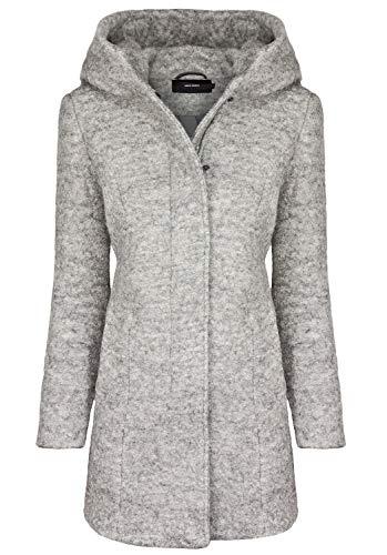 VERO MODA Damen Jacke VMVERODONA LS AW Jacket NOOS KI, Grau Light Grey Melange, 38 (Herstellergröße: M)