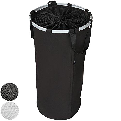Jago - Panier à linge rond pliable transportable – Noir – Taille XL - TAILLE ET COLORIS AU CHOIX
