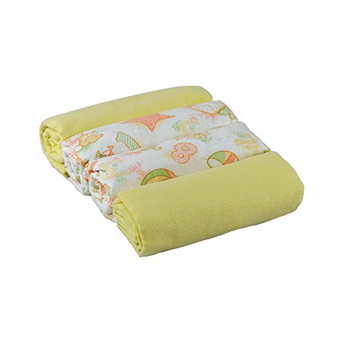 Junior Joy 6273YE swaddle Flanell Decken, 4-er Pack, gelb