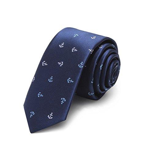 HXCMAN 5cm navy blau anker schmale Krawatte klassisches Design Männer Krawatte alle-party Business abend Hochzeit Bräutigam in Geschenkbox