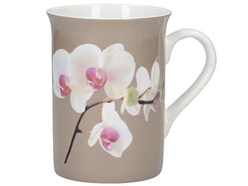 Creative Tops Tasse en Porcelaine Anglaise Motif Orchidée Harmony Mug en Coffret Cadeau Motif enchanté Multicolore