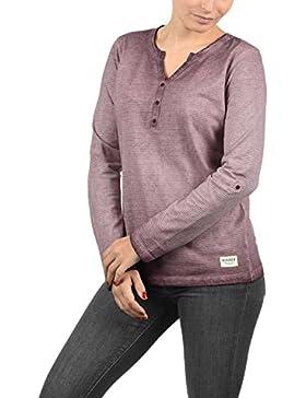 Desires Karina Camiseta Básica De Manga Larga Longsleeve Con Cuello Redondo De 100% algodón
