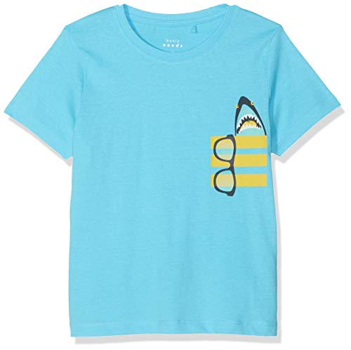 NAME IT Jungen NMMVAGNO SS LOOSE TOP H T-Shirt, Türkis (Bachelor Button), (Herstellergröße: 110)