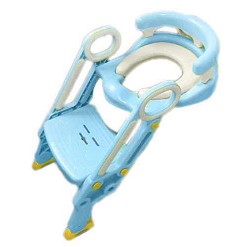 Échelle De Toilette pour Enfants Potty Children Pliant Mâle Et Femelle Siège De Toilette pour Bébé Siège De Toilette Rembourré pour Enfants, Plus La Taille Pot (35 * 62Cm)